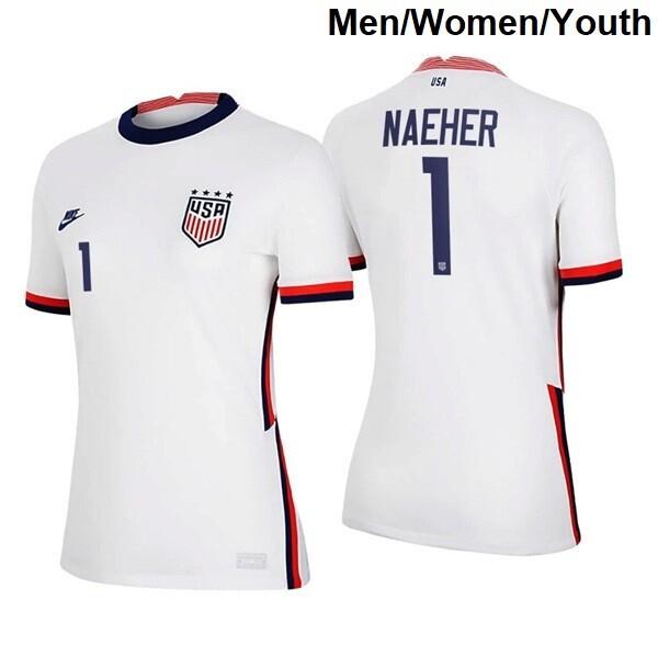 Alyssa Naeher Home White No 1 2021 Breathe Soccer Four Star Jersey