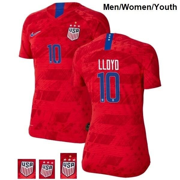 Carli Lloyd Champions Red No 10 Away Soccer Jersey