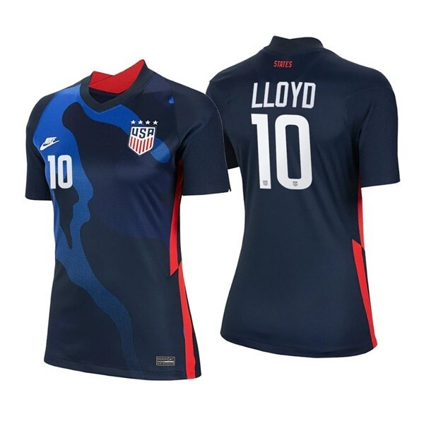 2021 Carli Lloyd Navy No 10 Away Soccer 4 Star Jersey