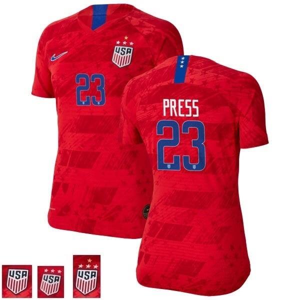 Christen Press Navy Red Champions No 23 Soccer Jersey