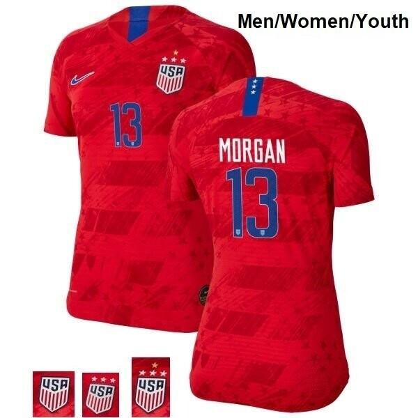 No 13 Away Champions Alex Morgan Red Soccer Jersey