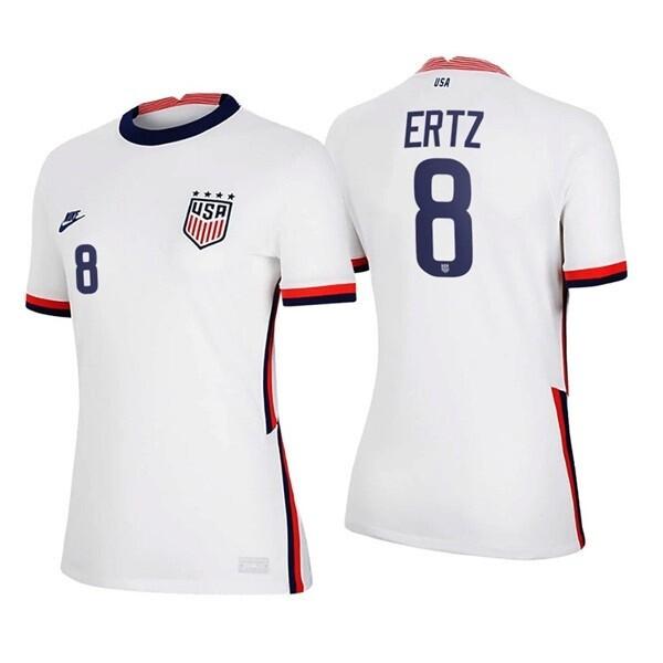 Julie Ertz White No 8 Home 2021 Soccer Jersey
