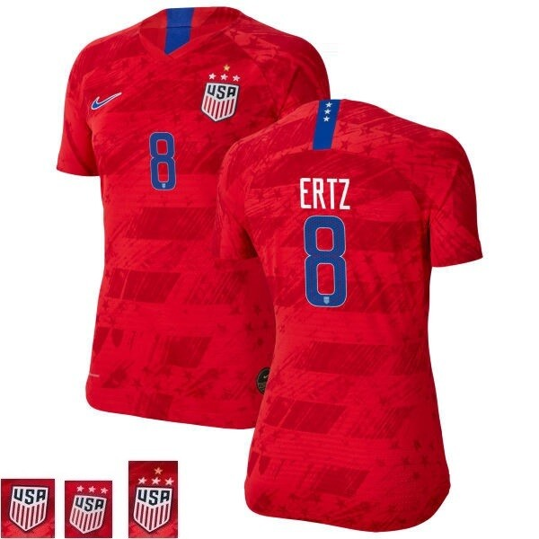 Julie Ertz Red Away No 8 Champions Soccer Jersey