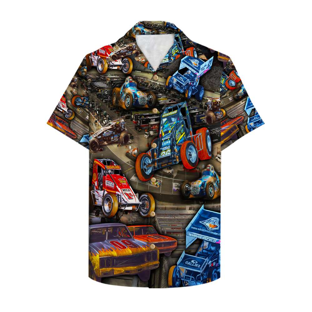 Dirt Track Racing sport car Limited Hawaiian Shirt