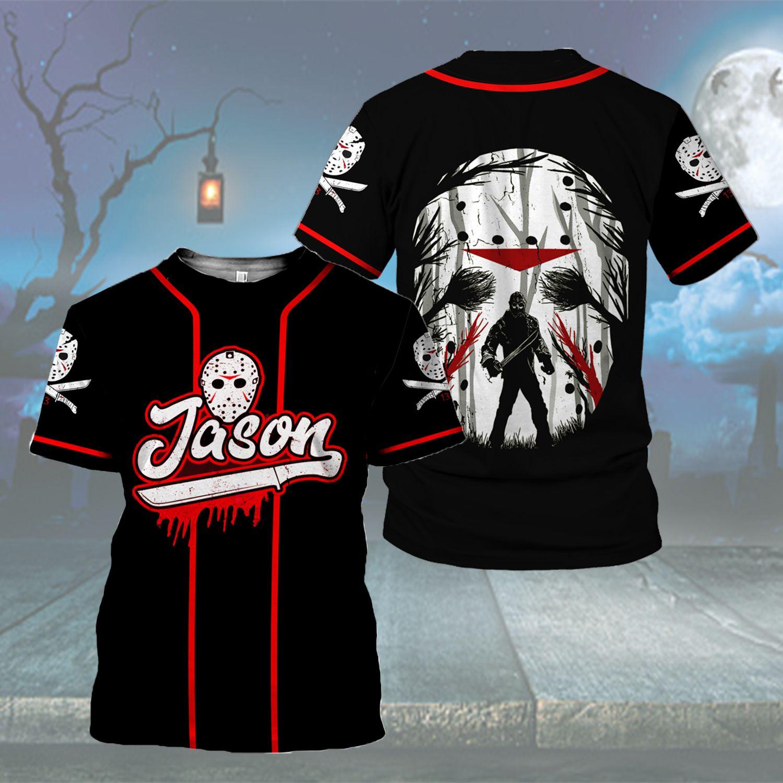 Jason Voorhees horror Baseball Jersey Hoodie Sweatshirt