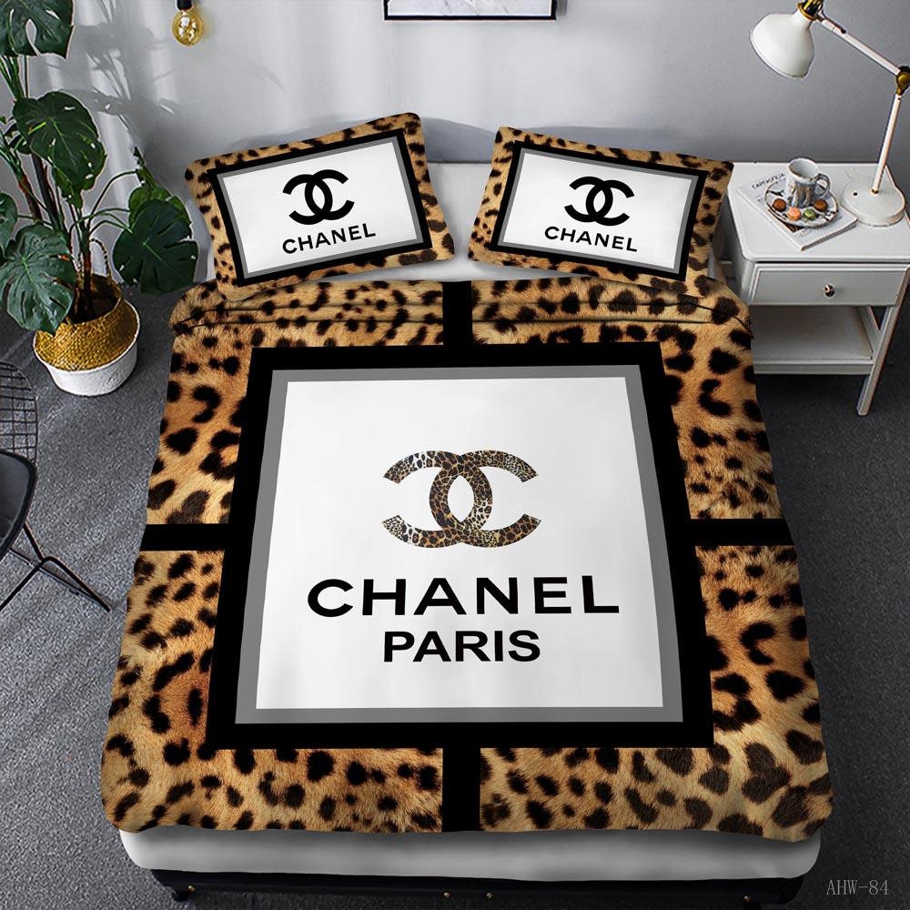 Chanel leopard pattern bedding set
