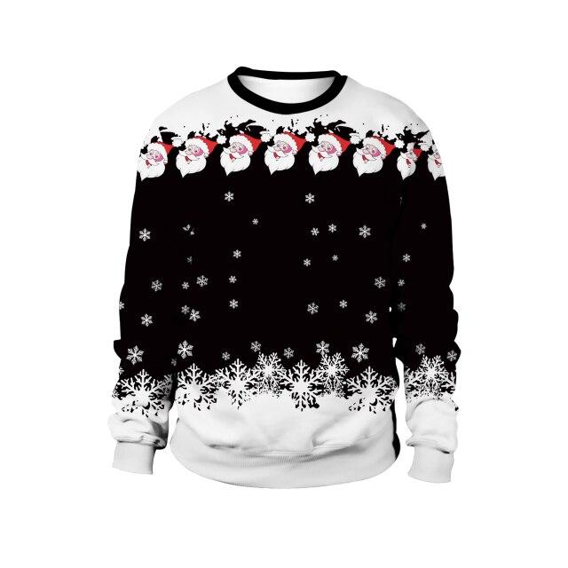 Snow in Midnight Santa Face Claus Sweater