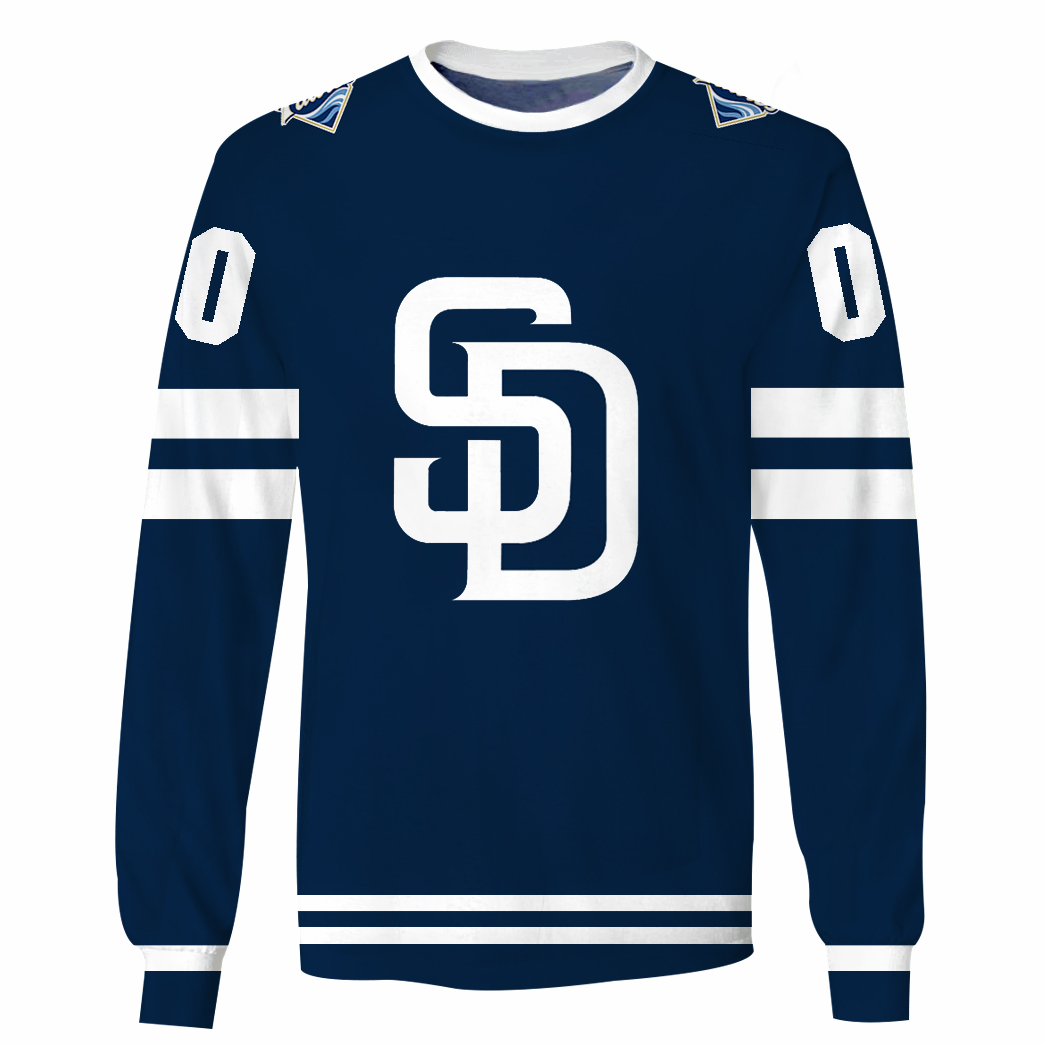 Personalized MLB San Diego Padres 3D hoodie and T-shirt