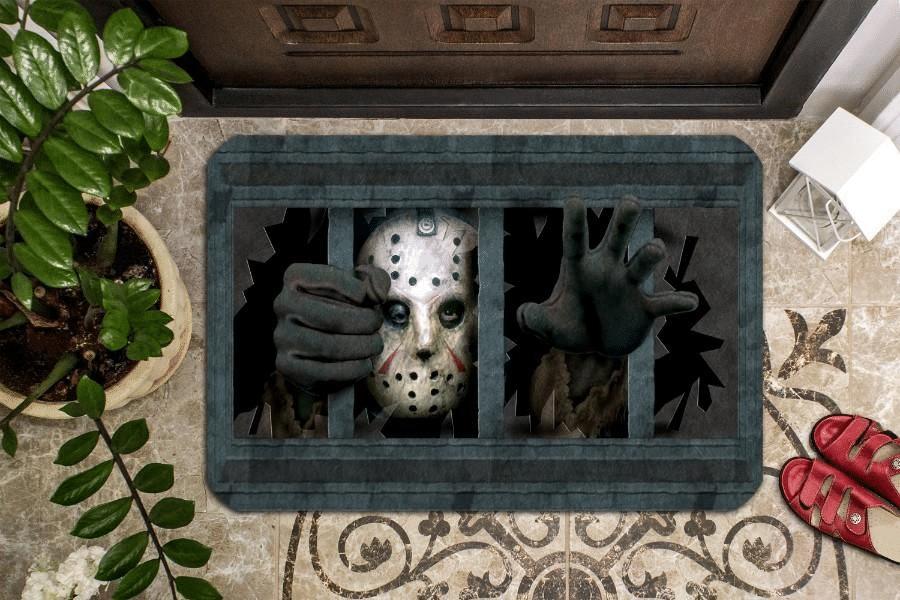 Jason Voorhees in jail Doormat