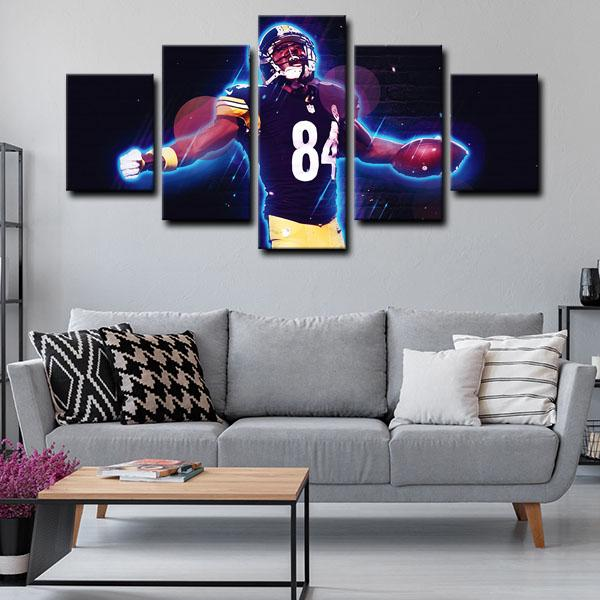 New Pittsburgh Steelers 5 Panel canvas for wall decoration