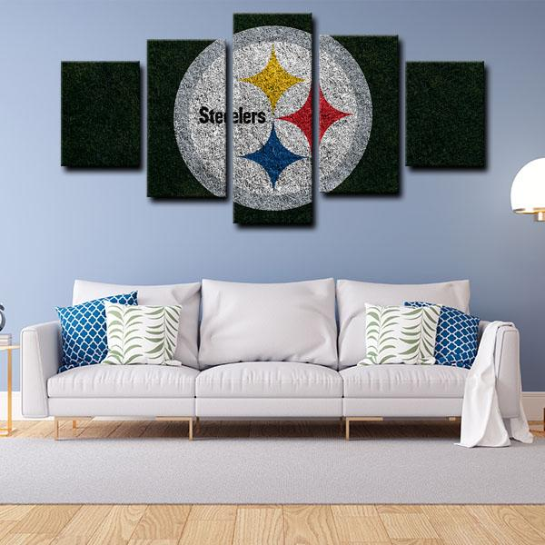 Pittsburgh Steelers Symbol 5 Panel Canvas