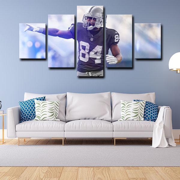 Pittsburgh Steelers Ronald Ocean Antonio Brown Wide Receiver 5 Panel Canvas