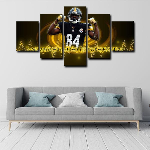 Pittsburgh Steelers Antonio Brown Leader 5 Panel Canvas