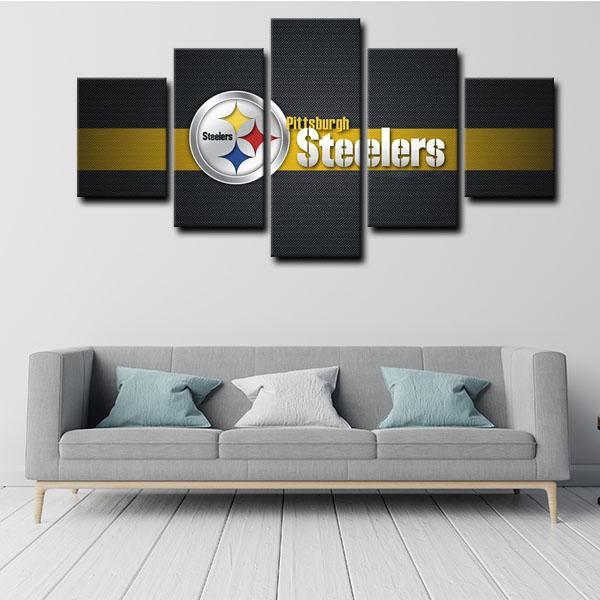 Pittsburgh Steelers Symbol Logo 5 Panel Canvas