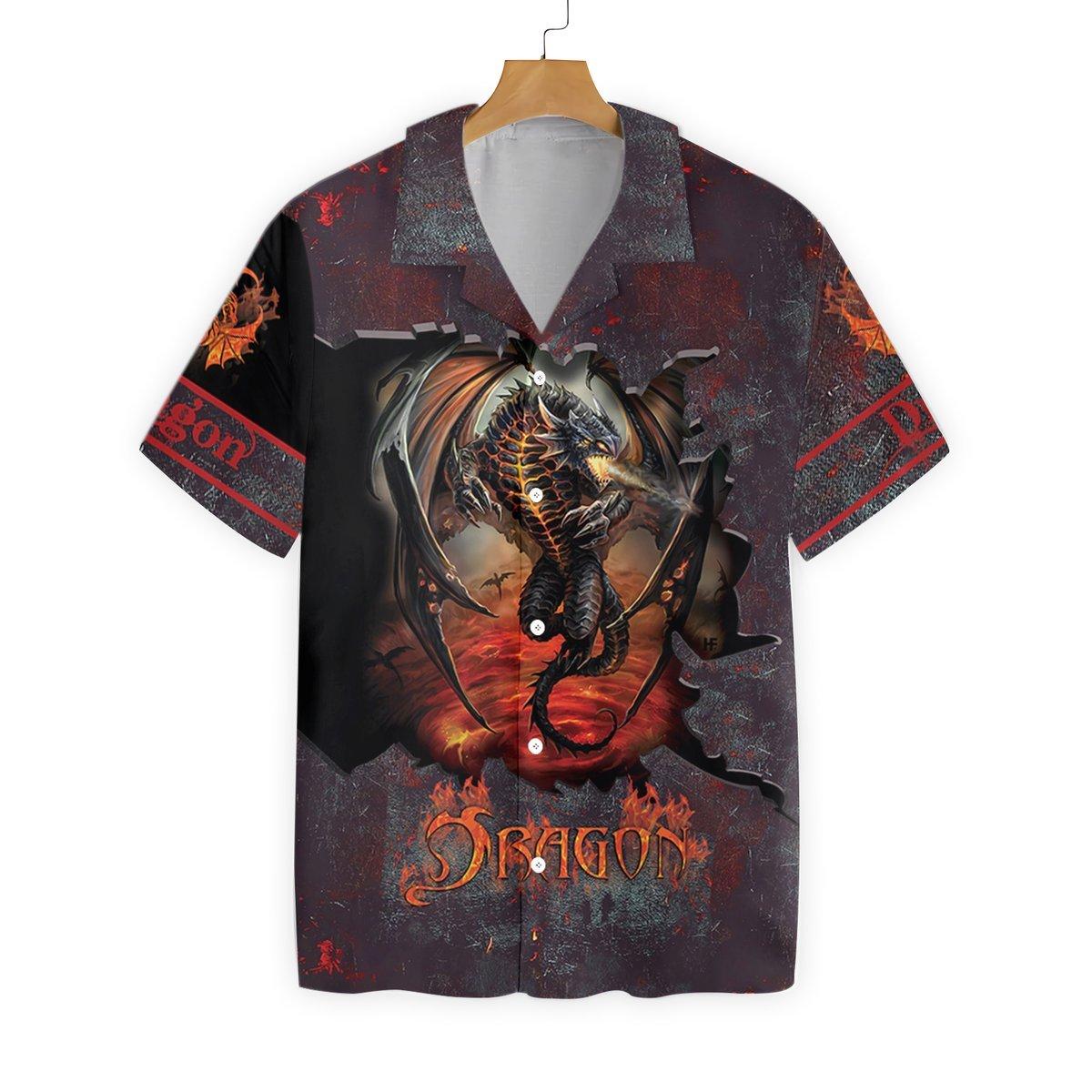 Hell Fire Dragon Hawaii Shirt