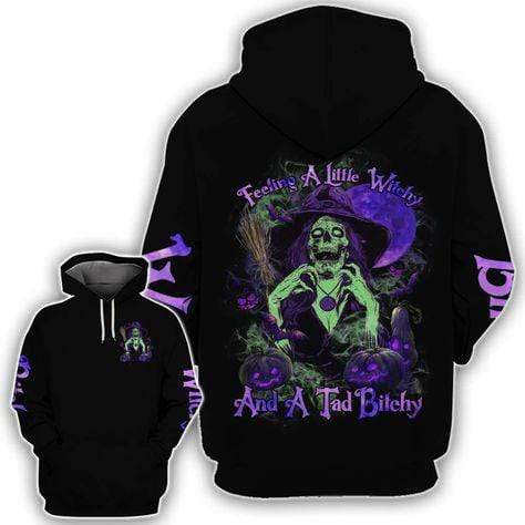Skull Witch Feeling Witchy Bitchy Hoodie 3D
