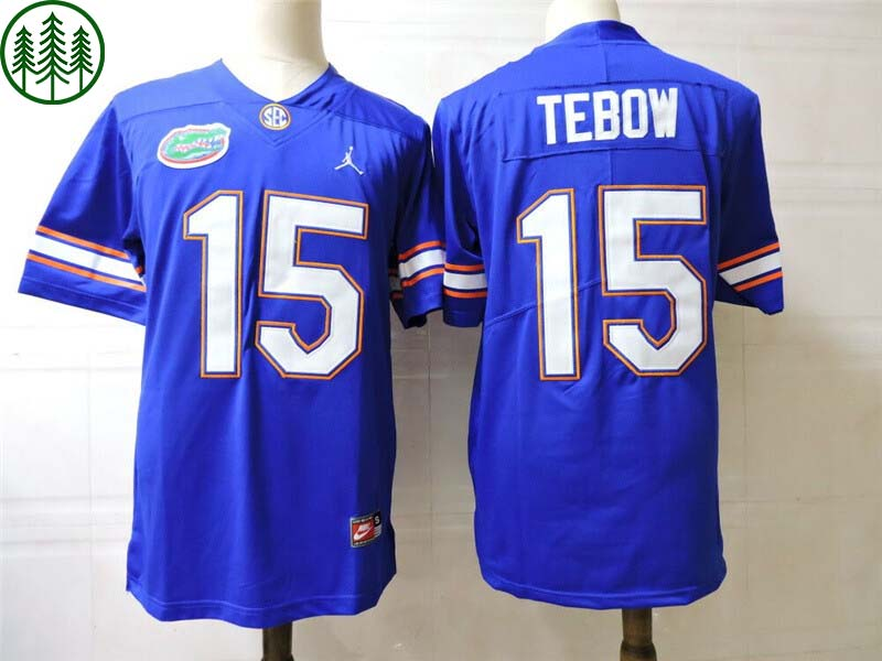Florida Gators 15 Tim Tebow College Football Jersey Blue