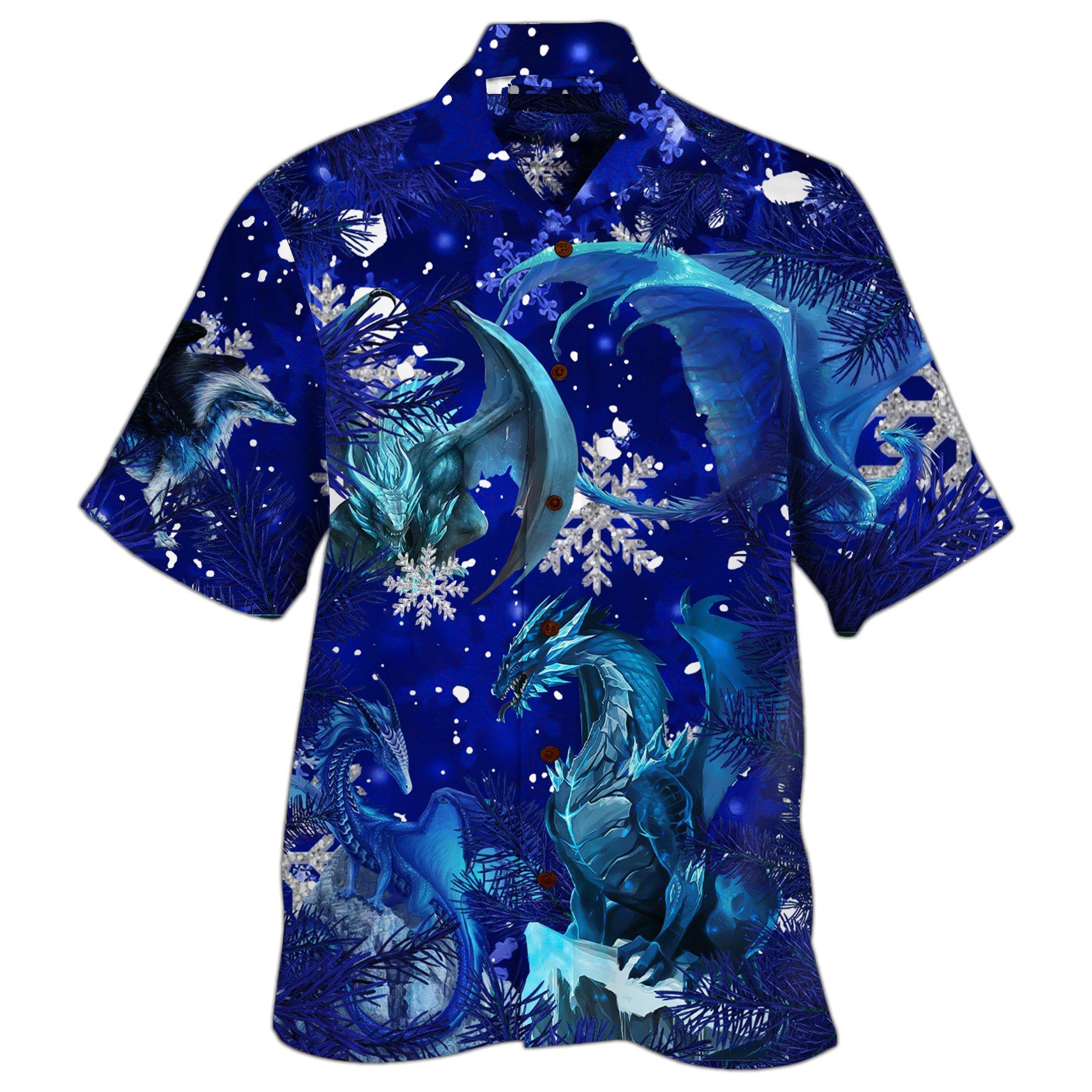 Dragon Merry Xmas Hawaiian Shirt
