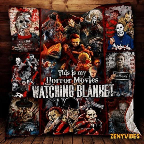 Horror Movie collection for fan Fleece Blanket