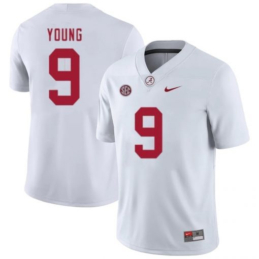 Alabama Crimson Tide 9 Bryce Young NCAA Football Game Jersey White