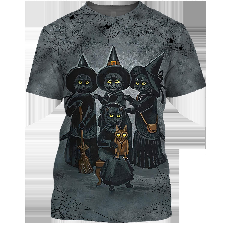 Black Cat team witches Halloween Tshirt Sweatshirt