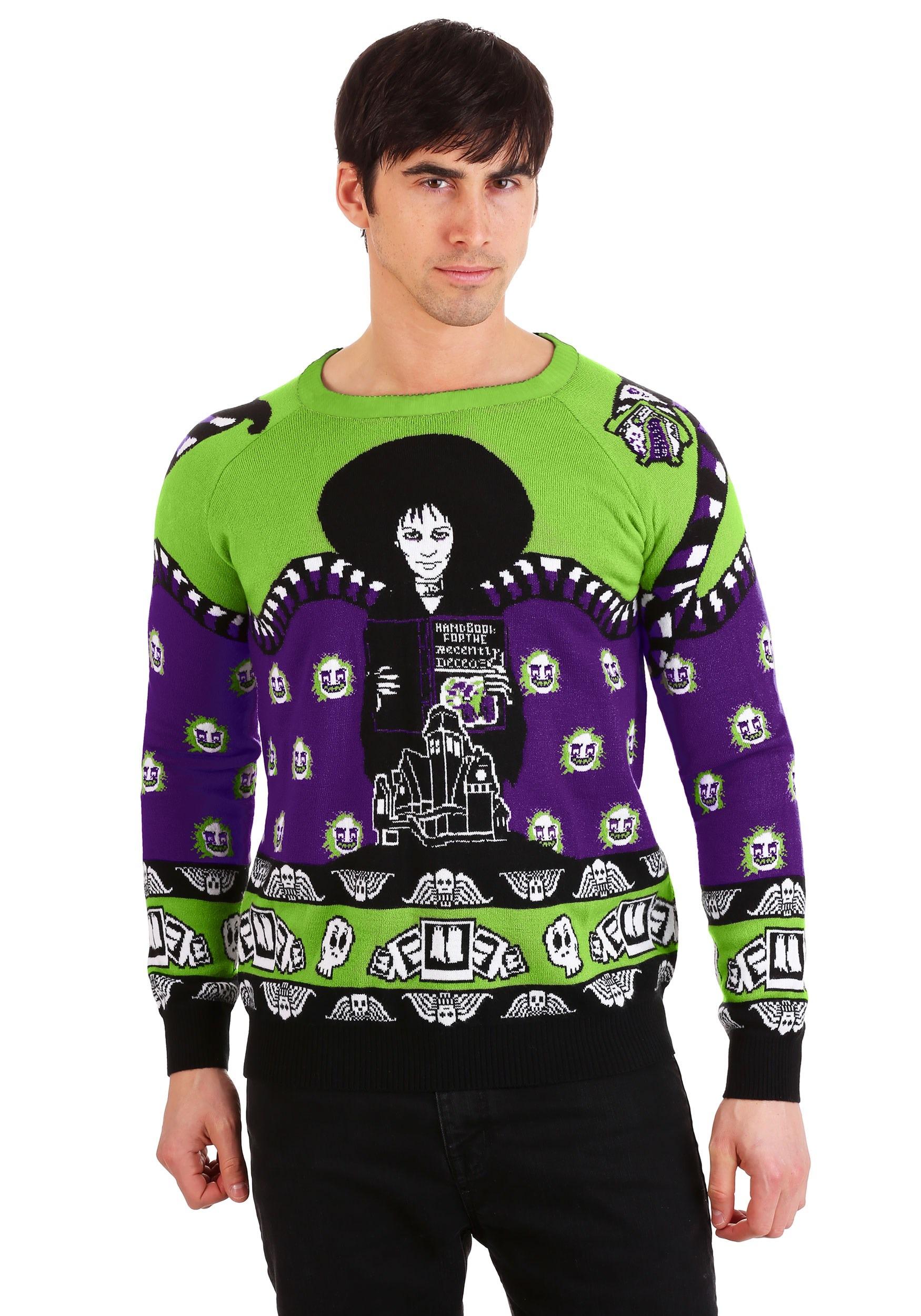 Beetlejuice Lydia Deetz Adult Halloween Sweater