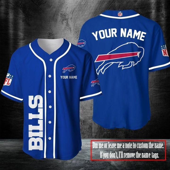 NFL Buffalo Bills Personalized Baseball Jersey Shirt