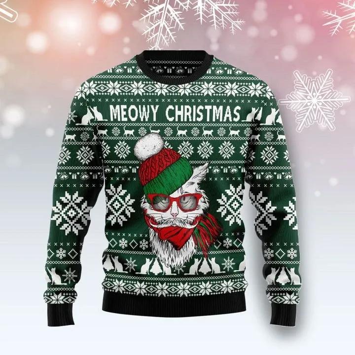Meowy Ugly Christmas Sweater