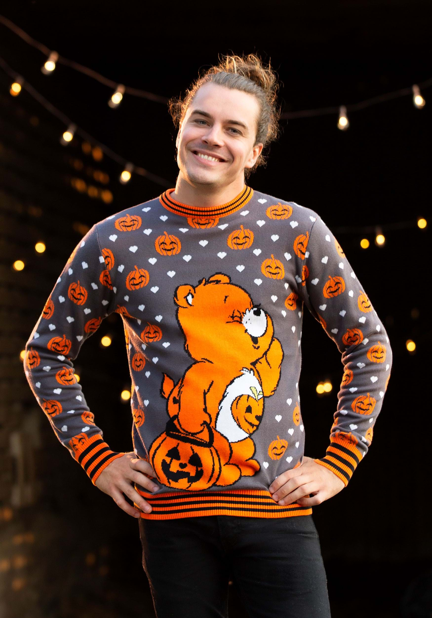 Care Bears Trick or Sweet Bear Halloween Sweater for Adults