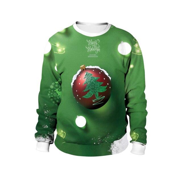 Christmas Pine ball Green Sweater