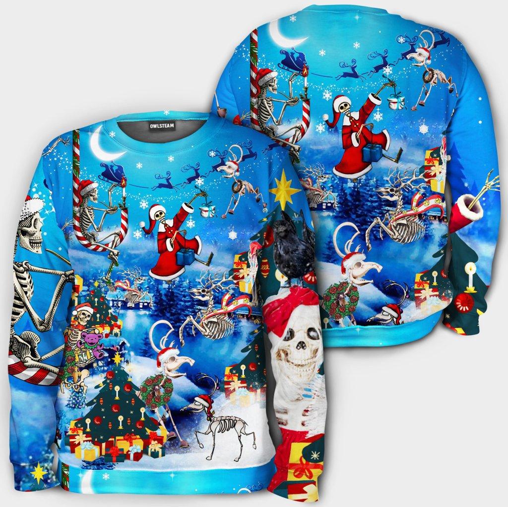Christmas And Skull Merry Xmas Hoodie 3D