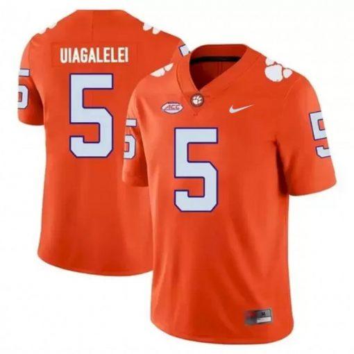 Clemson Tigers 5 D J Uiagalelei NCAA College Football Jersey Orange