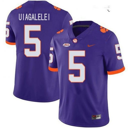 Clemson Tigers 5 D J Uiagalelei NCAA College Football Jersey Purple