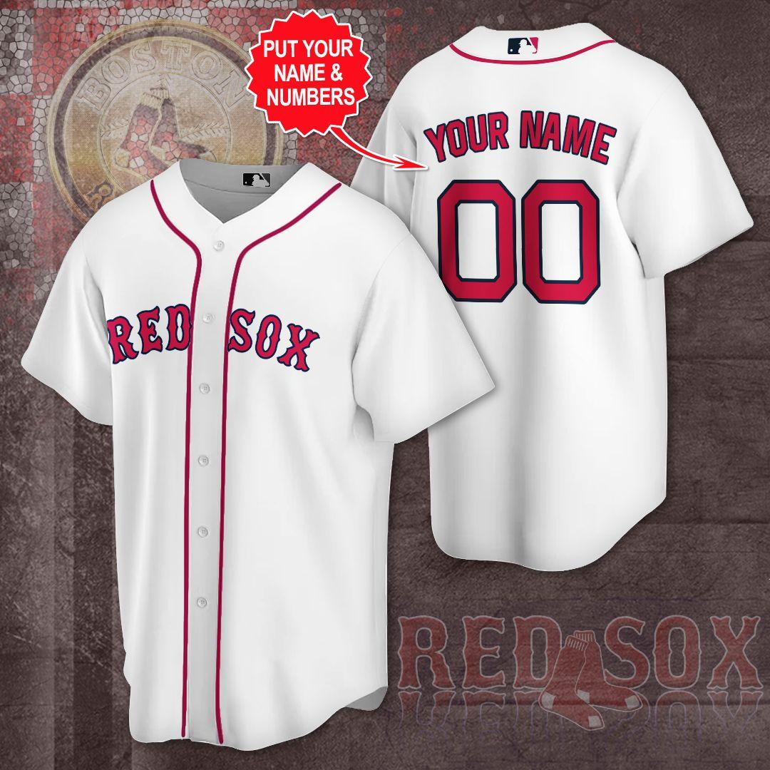 Custom Name Boston Red Sox baseball Jersey shirt