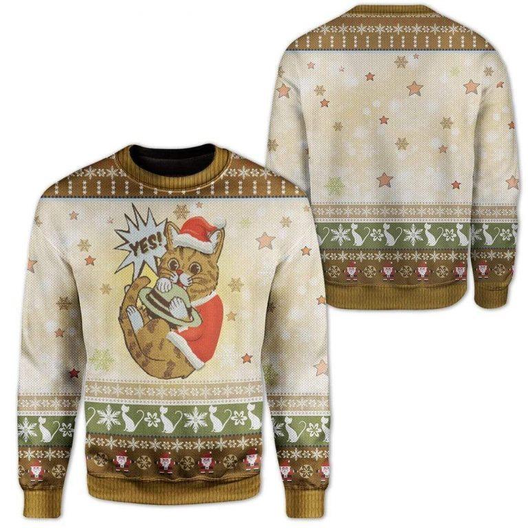 Cute Cat Merry Christmas Sweater