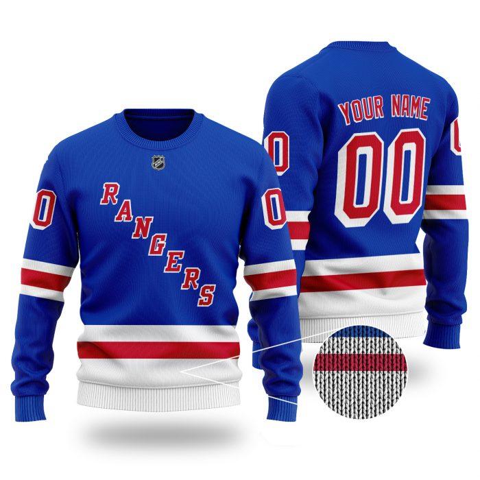 Custom Name Number NHL NEW YORK RANGERS Sweater