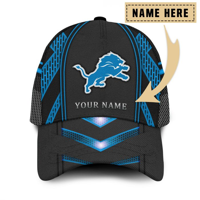 Custom Name NFL DETROIT LIONS classic Trucker Cap