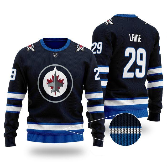 NHL WINNIPEG JETS Patrik Laine 29 3D wool Sweater
