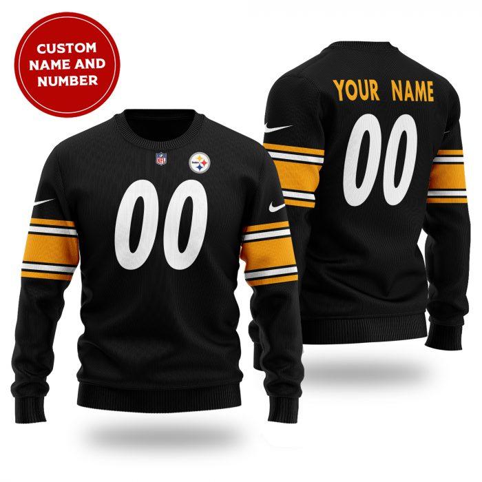 NFL PITTSBURGH STEELERS Custom Name Number Wool Sweater