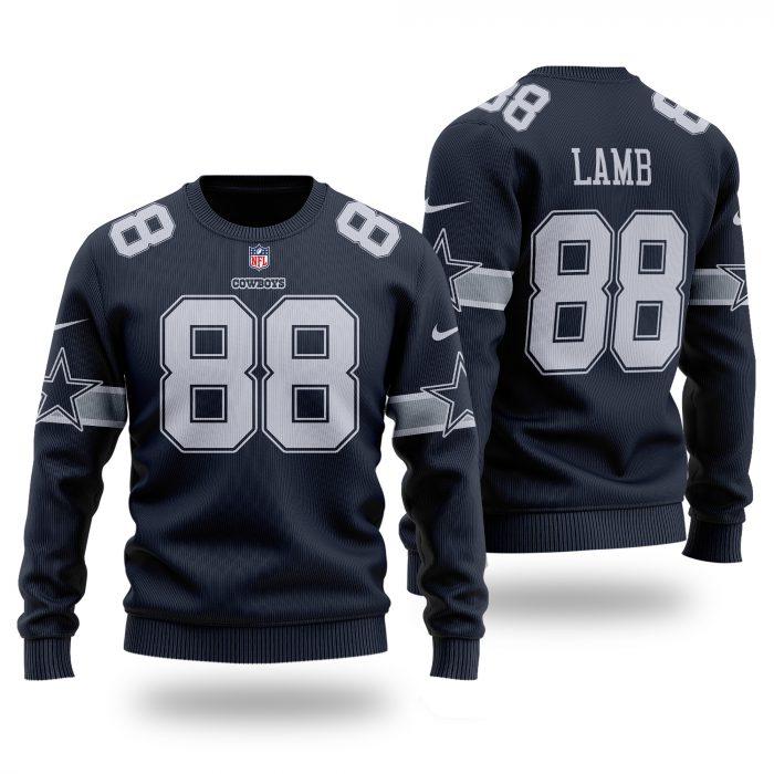 DALLAS COWBOYS CeeDee Lamb 88 dark navy Sweater