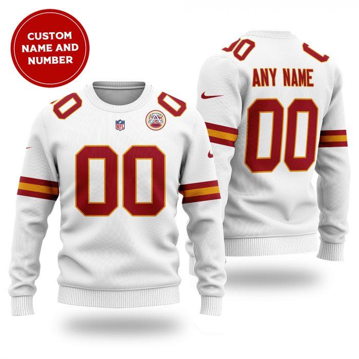 Personalized NFL KANSAS CITY CHIEFS white Sweater