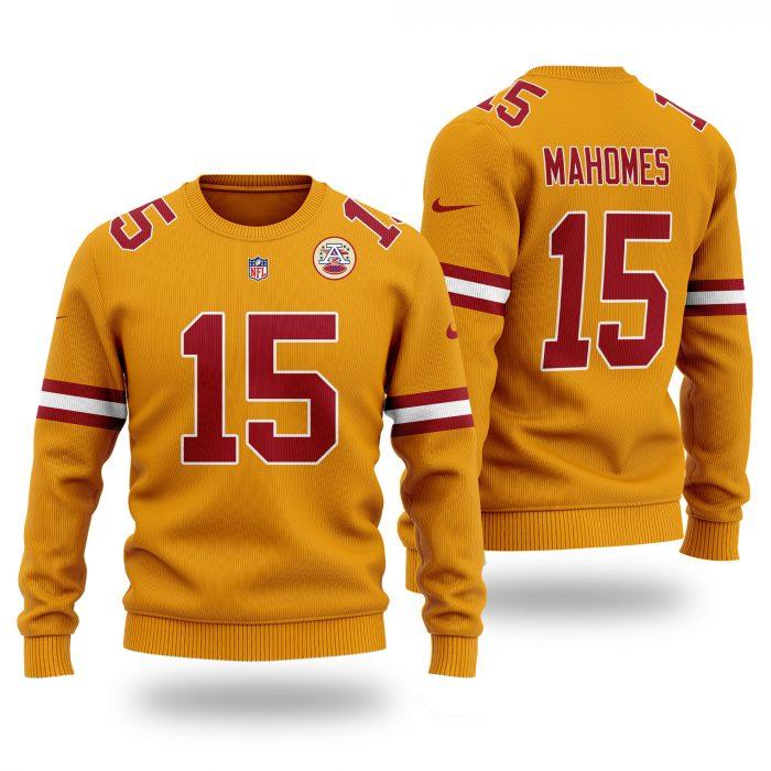 NFL KANSAS CITY CHIEFS Patrick Mahomes 15 classic Sweater