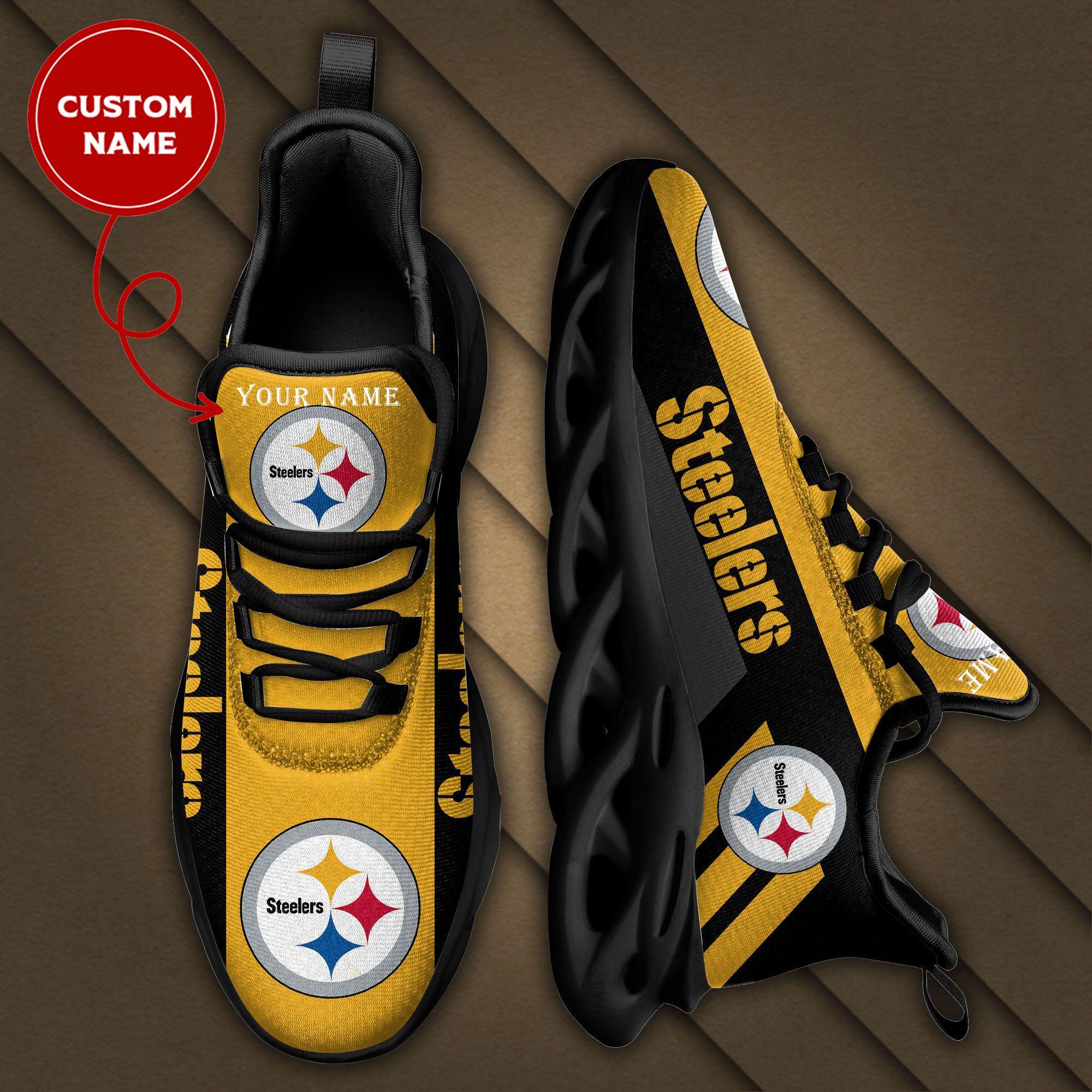 Custom Name PITTSBURGH STEELERS Sneakers