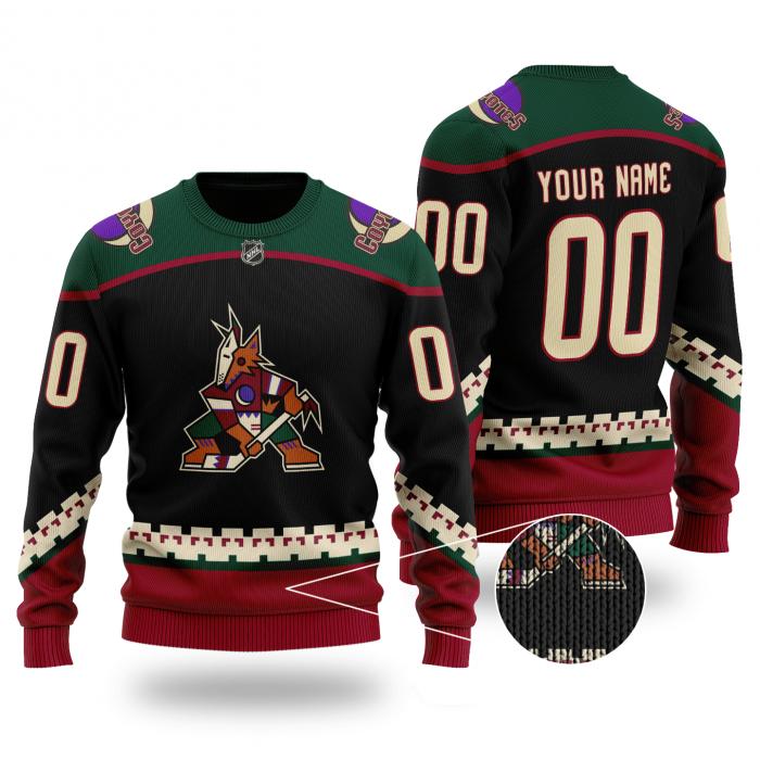 Custom Name Number ARIZONA COYOTES NHL Sweater