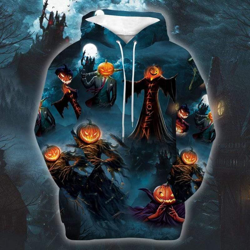 Happy Halloween Festival Devil Pumpkin Hoodie 3D
