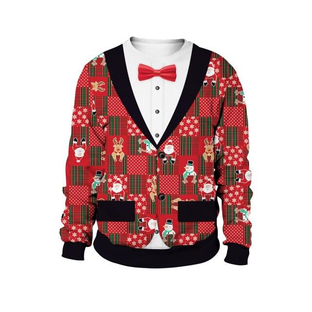 Vest Uniform Pattern Christmas Sweater