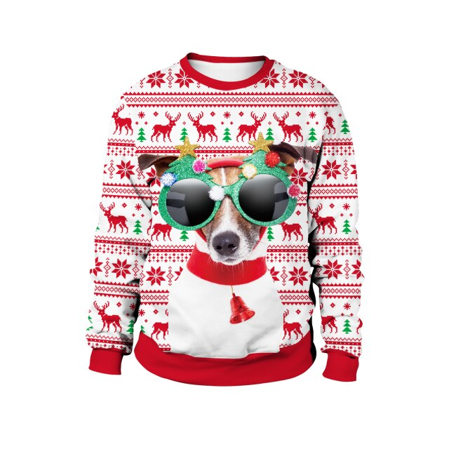 Dachshund with glasses Merry Christmas Sweater