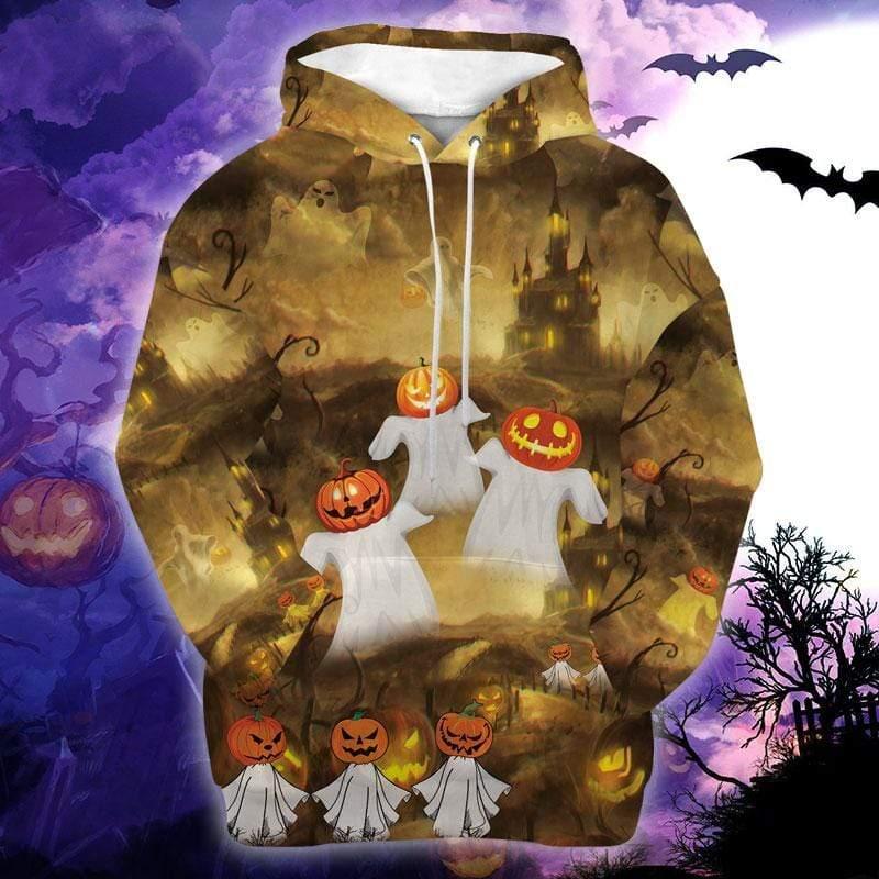 Halloween Trick or Treat Boo Pumpkin Hoodie 3D