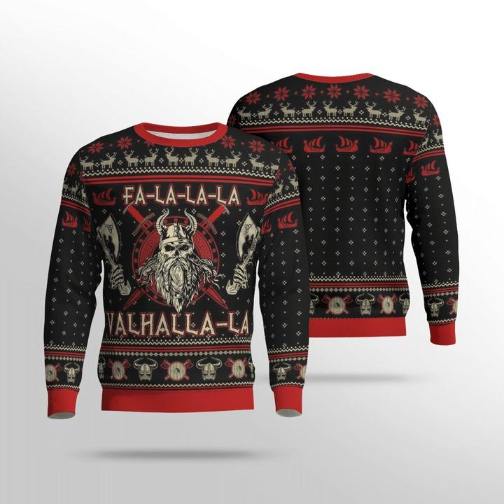 Viking valhalla black and red Hoodie 3D