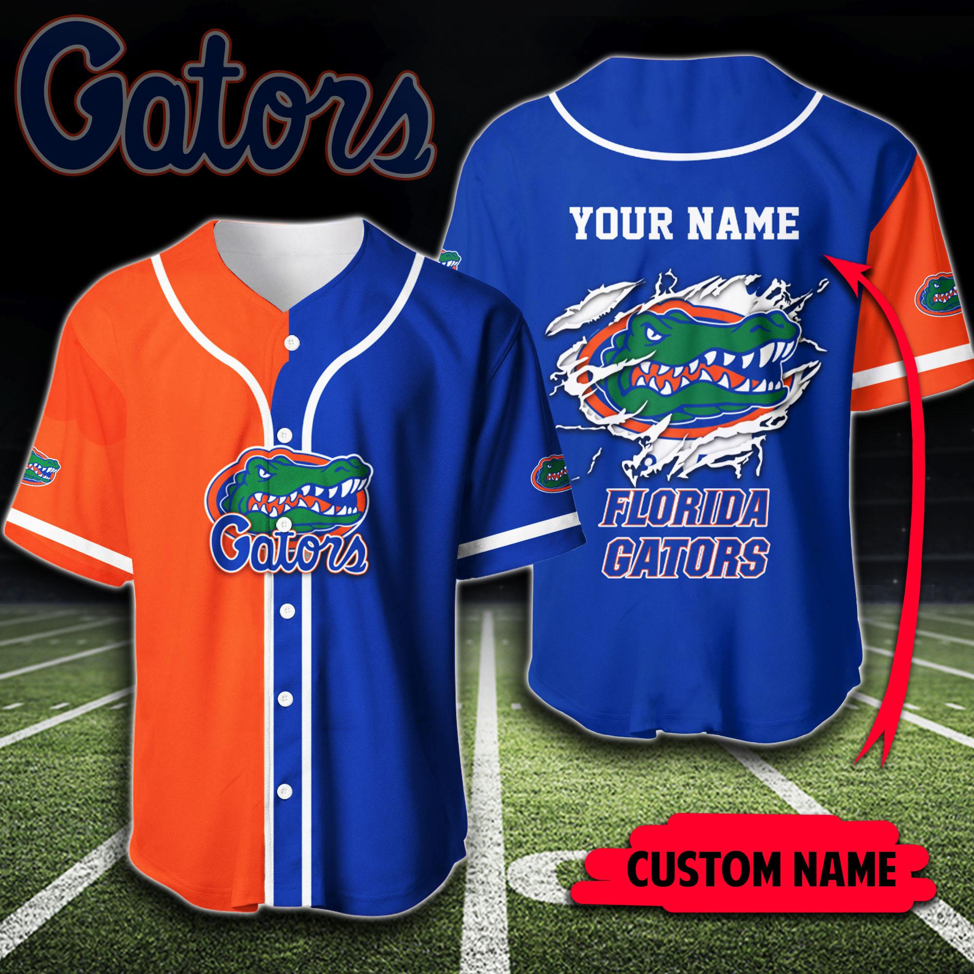 Custom Name NCAA Florida Gators Baseball Jersey Shirt